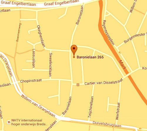 Google maps Baronielaan 265 Breda